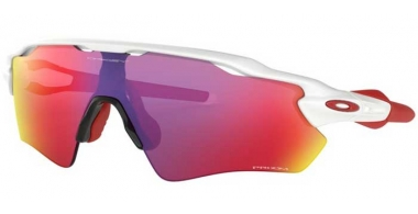 Sunglasses - Oakley - RADAR EV PATH OO9208 - 9208-05 POLISHED WHITE // PRIZM ROAD