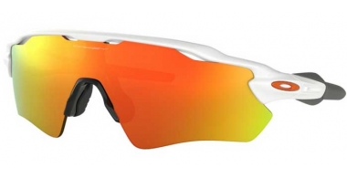 Sunglasses - Oakley - RADAR EV PATH OO9208 - 9208-16 POLISHED WHITE // FIRE IRIDIUM