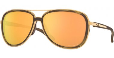 Sunglasses - Oakley - SPLIT TIME OO4129 - 4129-14 BROWN TORTOISE GOLD // PRIZM ROSE GOLD POLARIZED