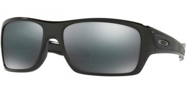 Sunglasses - Oakley - TURBINE OO9263 - 9263-03 POLISHED BLACK // BLACK IRIDIUM