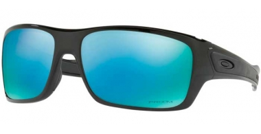 Sunglasses - Oakley - TURBINE OO9263 - 9263-14 POLISHED BLACK // PRIZM DEEP H20 POLARIZED