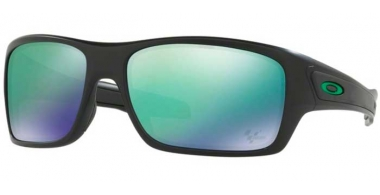 Sunglasses - Oakley - TURBINE OO9263 - 9263-15 MATTE BLACK // JADE IRIDIUM