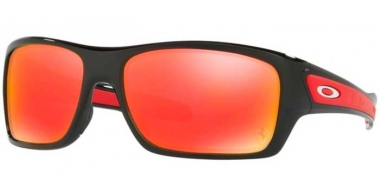 Sunglasses - Oakley - TURBINE OO9263 - 9263-39 POLISHED BLACK (FERRARI COLLECTION) // RUBY IRIDIUM