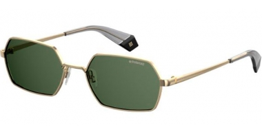 Sunglasses - Polaroid - PLD 6068/S - PEF (UC) GOLD GREEN // GREEN POLARIZED