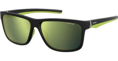 Sunglasses - Polaroid Sport - PLD 7014/S - PGC (LM) BLACK YELLOW // GREY GOLD MIRROR POLARIZED