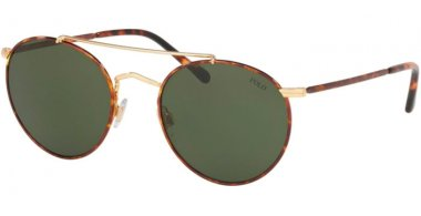 Sunglasses - POLO Ralph Lauren - PH3114 - 938471 GOLD HAVANA RIMS // BOTTLE GREEN