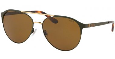 Sunglasses - POLO Ralph Lauren - PH3123 - 936873 OLIVE MATTE OLIVE GOLD // BROWN