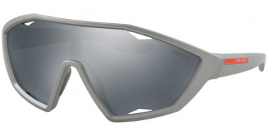 Sunglasses - Prada Linea Rossa - SPS 10US ACTIVE - 4495L0 DARK GREY METALLIZED RUBBER // GREY BLACK MIRROR