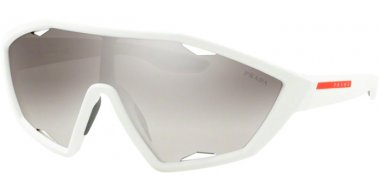 Sunglasses - Prada Linea Rossa - SPS 10US ACTIVE - TWK5O0 WHITE RUBBER // GREY GRADIENT SILVER MIRROR