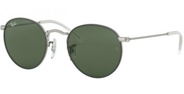Frames Junior - Ray-Ban® Junior Collection - RJ9547S - 277/71 TOP RUBBER BLACK ON SILVER // DARK GREEN