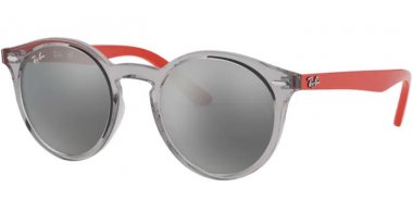 Frames Junior - Ray-Ban® Junior Collection - RJ9064S - 70636G TRANSPARENT GREY // GREY SILVER MIRROR