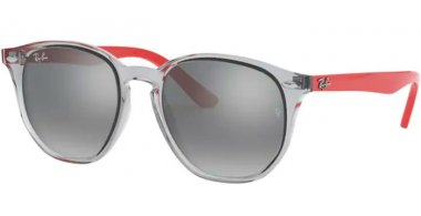 Frames Junior - Ray-Ban® Junior Collection - RJ9070S - 70636G TRANSPARENT GREY // GREY SILVER MIRROR