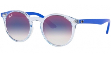 Frames Junior - Ray-Ban® Junior Collection - RJ9064S - 7051X0 TRASPARENT LIGHT BLUE // BLUE GRADIENT MIRROR RED
