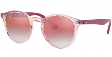 Frames Junior - Ray-Ban® Junior Collection - RJ9064S - 7052V0 TRASPARENT PINK // RED GRADIENT MIRROR RED