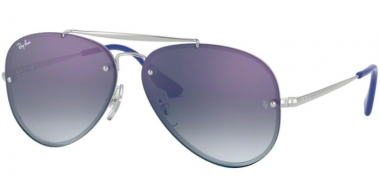 Frames Junior - Ray-Ban® Junior Collection - RJ9548SN - 212/X0 SILVER // BLUE GRADIENT MIRROR RED