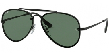 Frames Junior - Ray-Ban® Junior Collection - RJ9548SN - 220/71 BLACK // DARK GREEN