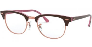 Frames - Ray-Ban® - RX5154 CLUBMASTER - 5886 TOP BROWN ON OPAL PINK