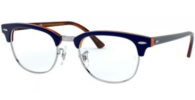 Frames - Ray-Ban® - RX5154 CLUBMASTER - 5910 TOP BLUE ON HAVANA RED
