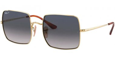 Sunglasses - Ray-Ban® - Ray-Ban® RB1971 SQUARE - 914778 GOLD // BLUE GRADIENT BLUE POLARIZED