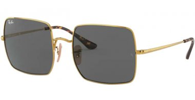 Sunglasses - Ray-Ban® - Ray-Ban® RB1971 SQUARE - 9150B1 GOLD // DARK GREY