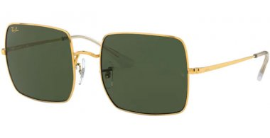 Sunglasses - Ray-Ban® - Ray-Ban® RB1971 SQUARE - 919631 LEGEND GOLD // GREEN