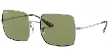Sunglasses - Ray-Ban® - Ray-Ban® RB1971 SQUARE - 91974E SILVER // GREEN BOTTLE