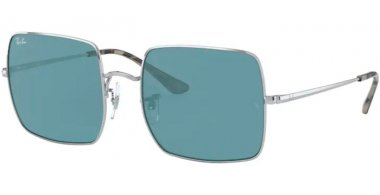 Sunglasses - Ray-Ban® - Ray-Ban® RB1971 SQUARE - 919756 SILVER // AZURE MIRROR BLUE