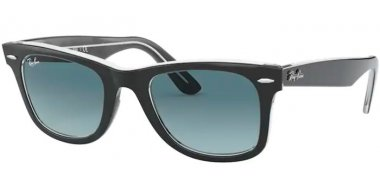 Sunglasses - Ray-Ban® - Ray-Ban® RB2140 ORIGINAL WAYFARER - 12943M BLACK ON TRANSPARENT // BLUE GRADIENT