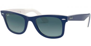 Sunglasses - Ray-Ban® - Ray-Ban® RB2140 ORIGINAL WAYFARER - 12993M BLUE ON WHITE // BLUE GRADIENT