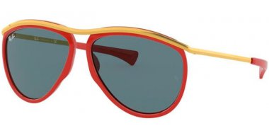 Sunglasses - Ray-Ban® - Ray-Ban® RB2219 OLYMPIAN AVIATOR - 1243R5 RED GOLD // BLUE