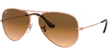 Sunglasses - Ray-Ban® - Ray-Ban® RB3025 AVIATOR LARGE METAL - 903551 COPPER // BROWN GRADIENT