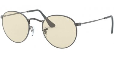 Sunglasses - Ray-Ban® - Ray-Ban® RB3447 ROUND METAL - 004/T2 GUNMETAL // LIGHT BROWN PHOTOCROMIC