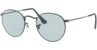 Sunglasses - Ray-Ban® - Ray-Ban® RB3447 ROUND METAL - 004/T3 GUNMETAL // LIGHT BLUE PHOTOCROMIC
