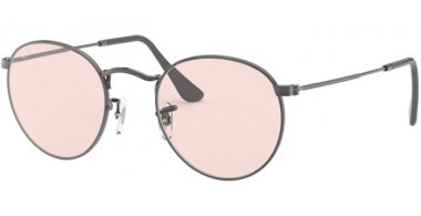 Sunglasses - Ray-Ban® - Ray-Ban® RB3447 ROUND METAL - 004/T5 GUNMETAL // LIGHT PINK PHOTOCROMIC