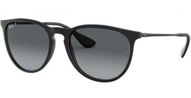 Sunglasses - Ray-Ban® - Ray-Ban® RB4171 ERIKA - 622/T3 BLACK RUBBER // GREY GRADIENT POLARIZED