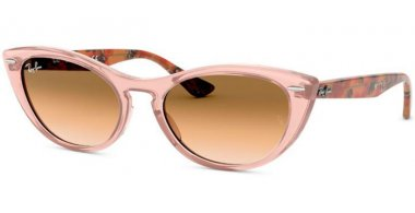 Sunglasses - Ray-Ban® - Ray-Ban® RB4314N - 128151 TRANSPARENT LIGHT BROWN // BROWN GRADIENT
