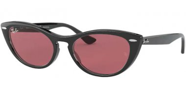 Sunglasses - Ray-Ban® - Ray-Ban® RB4314N NINA - 601/U0 BLACK // VIOLET PHOTOCROMIC MIRROR GOLD VIOLET