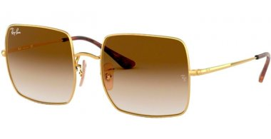 Sunglasses - Ray-Ban® - Ray-Ban® RB1971 SQUARE - 914751 GOLD // BROWN GRADIENT CLEAR