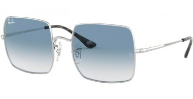 Sunglasses - Ray-Ban® - Ray-Ban® RB1971 SQUARE - 91493F SILVER // BLUE GRADIENT CLEAR