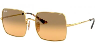 Sunglasses - Ray-Ban® - Ray-Ban® RB1971 SQUARE - 9150AC GOLD // PHOTOCROMIC ORANGE GRADIENT BROWN