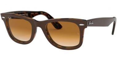 Sunglasses - Ray-Ban® - Ray-Ban® RB2140 ORIGINAL WAYFARER - 127651 TOP BROWN ON YELLOW HAVANA // CLEAR GRADIENT BROWN