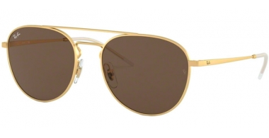 Sunglasses - Ray-Ban® - Ray-Ban® RB3589 - 901373 RUBBER GOLD // BROWN