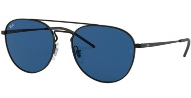 Sunglasses - Ray-Ban® - Ray-Ban® RB3589 - 901480 BLACK RUBBER // BLUE