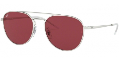 Sunglasses - Ray-Ban® - Ray-Ban® RB3589 - 911675 RUBBER SILVER // DARK VIOLET
