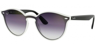 Sunglasses - Ray-Ban® - Ray-Ban® RB4380N - 64160U WHITE DEMISHINY // CLEAR GRADIENT VIOLET GRADIENT BLUE