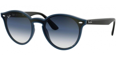 Sunglasses - Ray-Ban® - Ray-Ban® RB4380N - 64170S BLUE DEMISHINY // CLEAR GRADIENT GREEN GRADIENT GREY