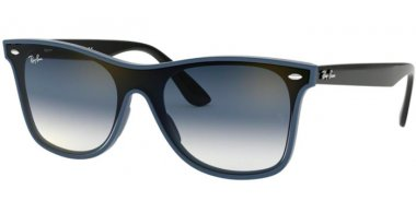 Sunglasses - Ray-Ban® - Ray-Ban® RB4440N BLAZE WAYFARER - 64170S BLUE DEMISHINY // CLEAR GRADIENT GREEN GRADIENT GREY