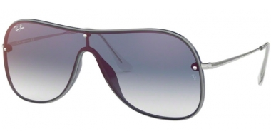 Sunglasses - Ray-Ban® - Ray-Ban® RB4311N - 6374X0 BLUE ON TOP GREY // CLEAR GRADIENT BLUE MIRROR RED