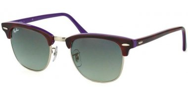 Sunglasses - Ray-Ban® - Ray-Ban® RB3016 CLUBMASTER - 1128/71 HAVANA VIOLET // GREY GRADIENT