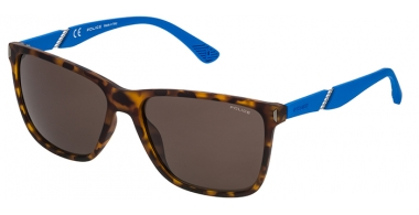 Sunglasses - Police - SPL529 SPEED 10 - 07VE HAVANA BLUE // BROWN